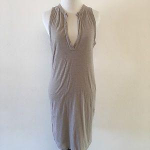 James Perse V Neck Jersey Sheath Dress Size 2 M